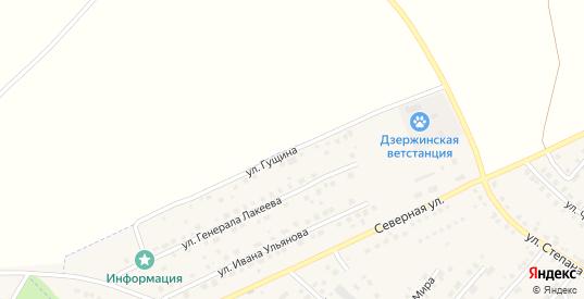 Улица Гущина в Кондрово с номерами домов на карте. Спутник и схема онлайн