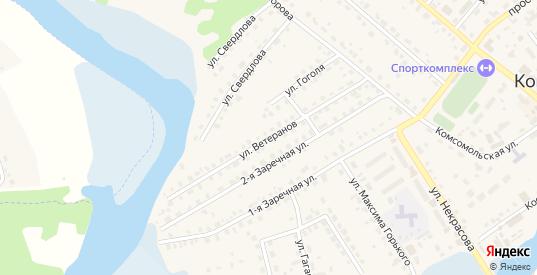 Улица Ветеранов в Кондрово с номерами домов на карте. Спутник и схема онлайн
