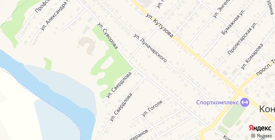 Улица Суворова в Кондрово с номерами домов на карте. Спутник и схема онлайн