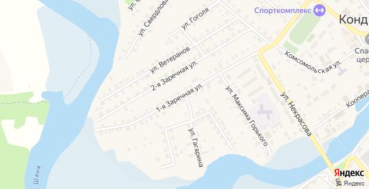 Заречная улица в Кондрово с номерами домов на карте. Спутник и схема онлайн