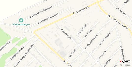 Рабочая улица в Кондрово с номерами домов на карте. Спутник и схема онлайн