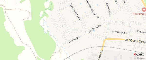 Элеваторская улица на карте Волоколамска с номерами домов