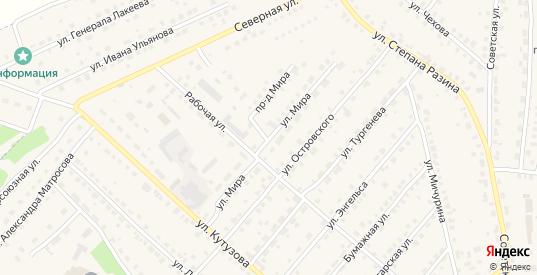 Улица Мира в Кондрово с номерами домов на карте. Спутник и схема онлайн