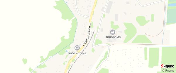 Станционное шоссе на карте поселка Васильевского Моха Тверской области с номерами домов