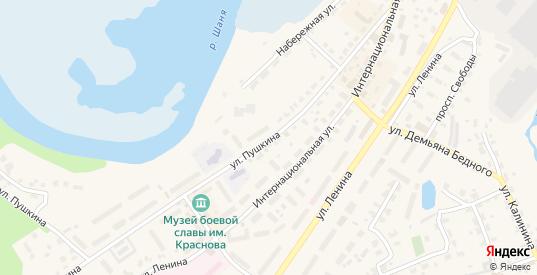Улица Пушкина в Кондрово с номерами домов на карте. Спутник и схема онлайн