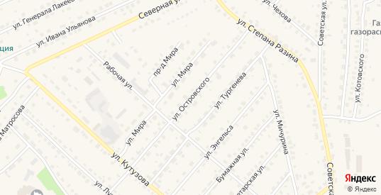 Улица Островского в Кондрово с номерами домов на карте. Спутник и схема онлайн