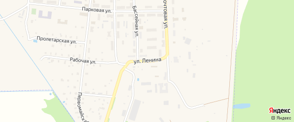 Улица Ленина на карте поселка Васильевского Моха Тверской области с номерами домов