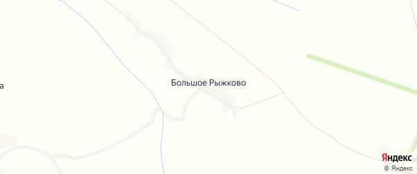 Карта деревни Большое Рыжково в Орловской области с улицами и номерами домов