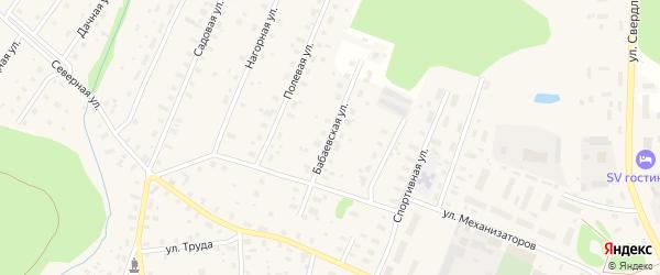 Бабаевская улица на карте Бабаево с номерами домов