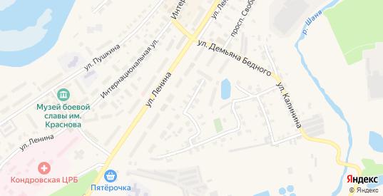Улица Дзержинского в Кондрово с номерами домов на карте. Спутник и схема онлайн