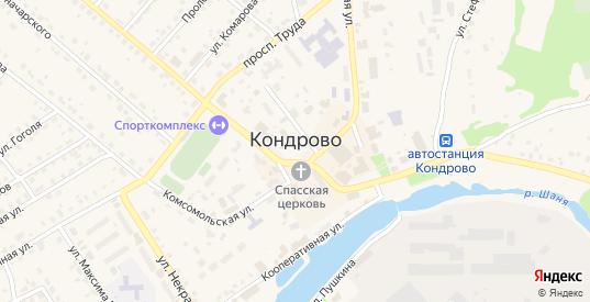 Олимпийская улица в Кондрово с номерами домов на карте. Спутник и схема онлайн