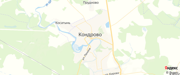 Карта Кондрово с районами, улицами и номерами домов