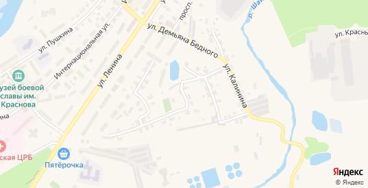 Улица Воровского в Кондрово с номерами домов на карте. Спутник и схема онлайн