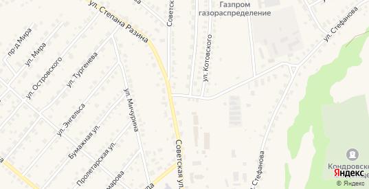 Советская улица в Кондрово с номерами домов на карте. Спутник и схема онлайн