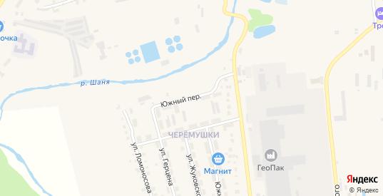 Южный переулок в Кондрово с номерами домов на карте. Спутник и схема онлайн