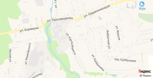 Улица К.Маркса в Кондрово с номерами домов на карте. Спутник и схема онлайн