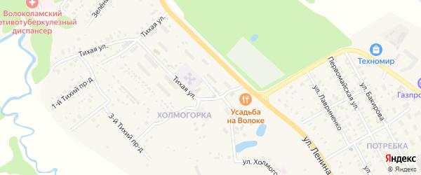 Улица Холмогорка на карте Волоколамска с номерами домов