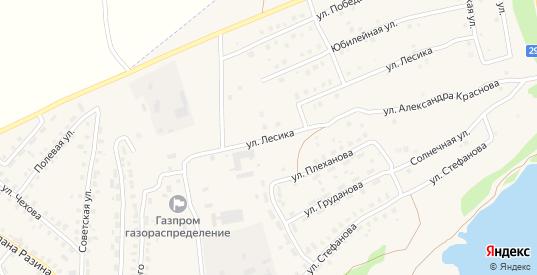 Улица Лесика в Кондрово с номерами домов на карте. Спутник и схема онлайн