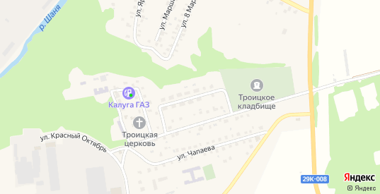 Переулок Красный Октябрь в Кондрово с номерами домов на карте. Спутник и схема онлайн
