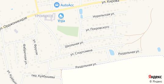 Школьная улица в Кондрово с номерами домов на карте. Спутник и схема онлайн