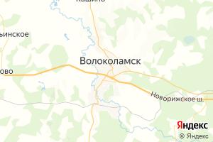 Карта г. Волоколамск Московская область