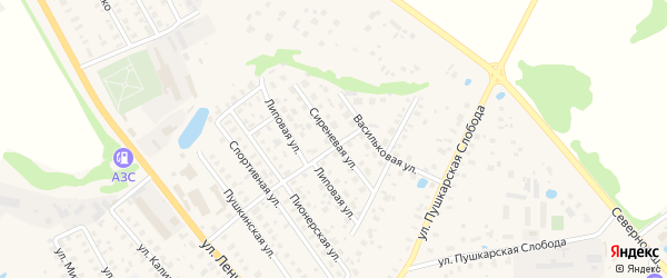Сиреневая улица на карте Волоколамска с номерами домов