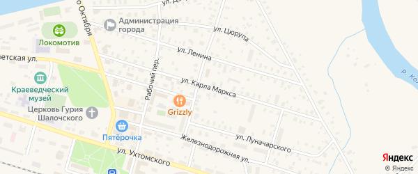 Улица К.Маркса на карте Бабаево с номерами домов