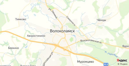 Карта Волоколамска с улицами и домами подробная. Показать со спутника номера домов онлайн
