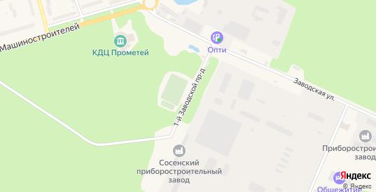1-й Заводской проезд в Сосенском с номерами домов на карте. Спутник и схема онлайн