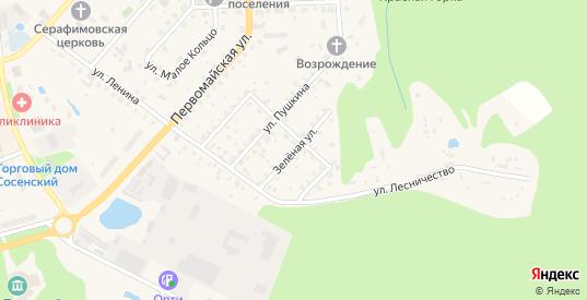 Зеленая улица в Сосенском с номерами домов на карте. Спутник и схема онлайн