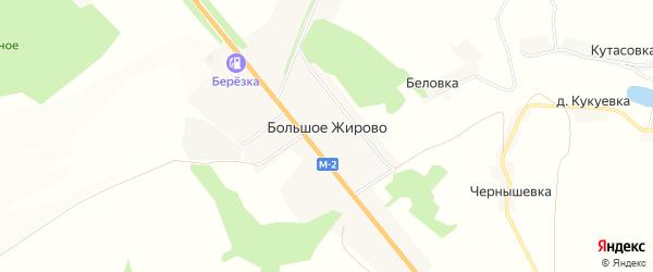 Карта села Большое Жирово в Курской области с улицами и номерами домов
