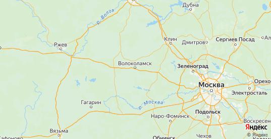 Карта Волоколамского района Московской области с городами и населенными пунктами