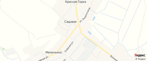 Карта Садовой деревни в Тверской области с улицами и номерами домов