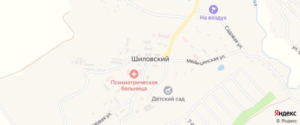 Дорожная улица на карте Шиловского поселка Орловской области с номерами домов