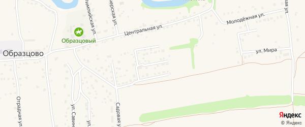 Союзная улица на карте деревни Образцово Орловской области с номерами домов