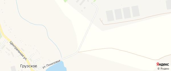 Восточная улица на карте Грузского села с номерами домов
