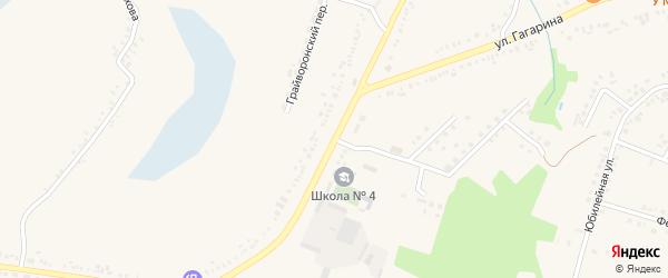Грайворонская улица на карте поселка Борисовки с номерами домов