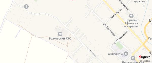 Ногина 2-й переулок на карте Болхова с номерами домов
