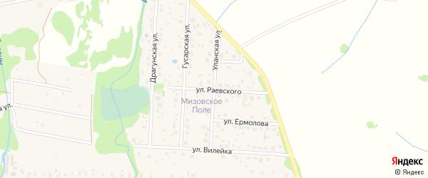 Уланская улица на карте Можайска с номерами домов