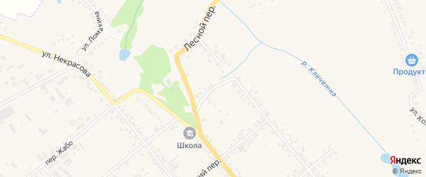Лесной переулок на карте Болхова с номерами домов