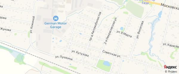 Смоленская улица на карте Можайска с номерами домов