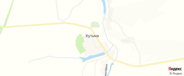 Карта деревни Кутьмы в Орловской области с улицами и номерами домов
