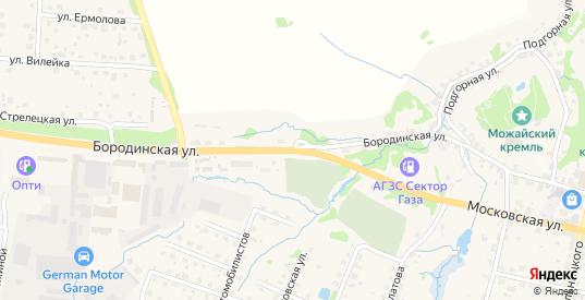 Бородинская улица в Можайске с номерами домов на карте. Спутник и схема онлайн