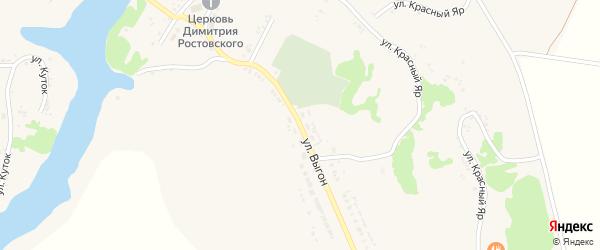 Улица Выгон на карте села Дмитриевки Белгородской области с номерами домов