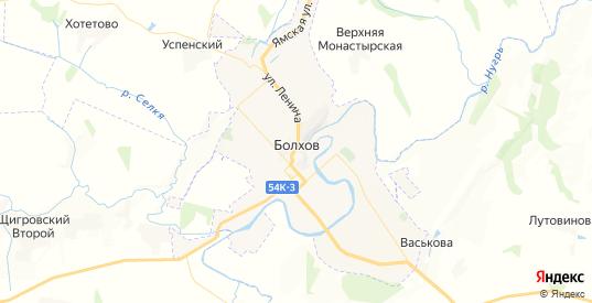 Карта Болхова с улицами и домами подробная. Показать со спутника номера домов онлайн