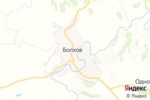 Карта г. Болхов Орловская область