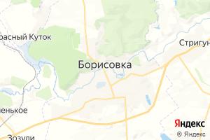 Карта пос. Борисовка Белгородская область
