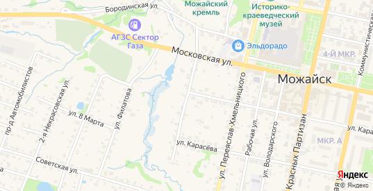 Набережная 1-я улица в Можайске с номерами домов на карте. Спутник и схема онлайн