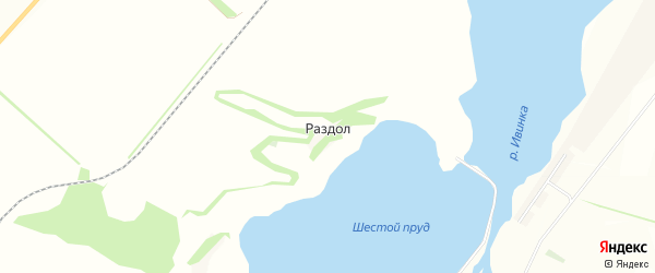 Карта хутора Раздола в Белгородской области с улицами и номерами домов