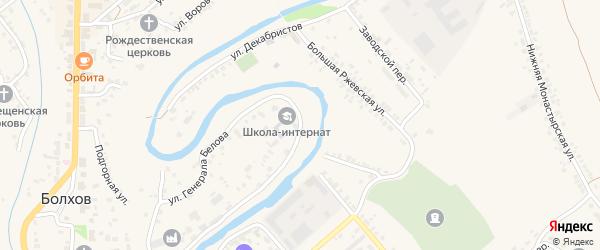 Улица Генерала Белова на карте Болхова с номерами домов